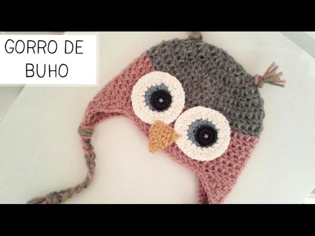 Gorro de Buho a Crochet - Tallas de 0 a 2 años - Parte 2 de 2