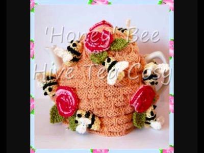 Honey Bee Hive Pot Tea Cosy DK Knitting Pattern