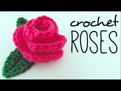 How to crochet a ROSE - so easy!