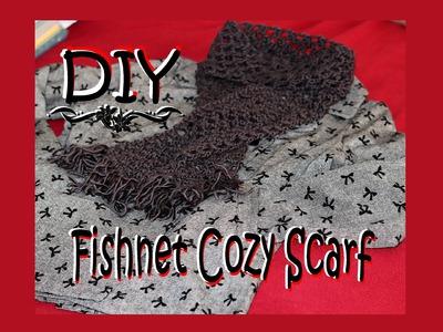 How To Crochet for Beginners #5: Easy Fishnet Scarf