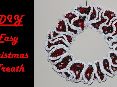 How To Crochet For Beginners #8: Easy Christmas Wreath