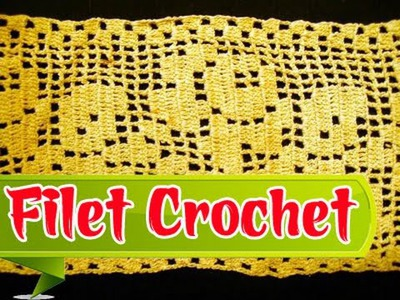 How To Filet Crochet  - Basic Filet Crochet Tutorial Step By Step