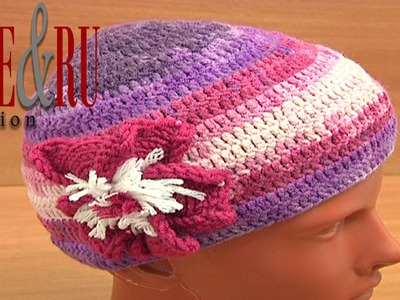 How to Make Simple Crochet Hat Tutorial 2 part 1 of 3 SIMPLE Mütze häkeln lernen