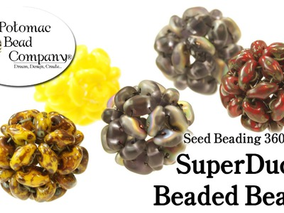 How to Make SuperDuo Beaded Beads (Seed Beading 360)