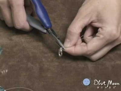 How to use a Crimp Bead with Chain Nose Pliers - Blue Moon Beads Beading. Jewlery Video