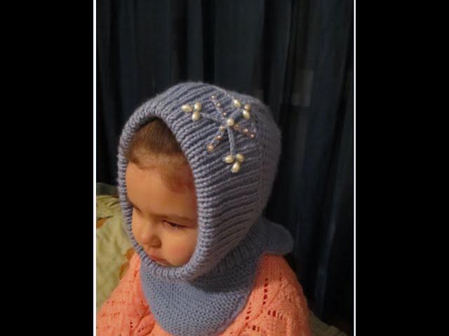 Вязание капора для девочки