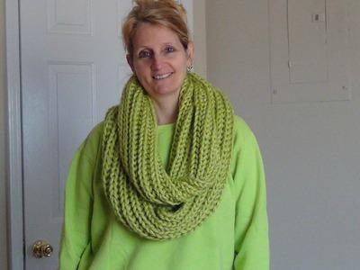 Learn Brioche Knitting making an Infinity Scarf