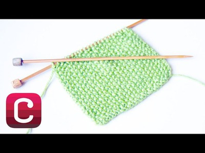 Learn to Knit Seed Stitch