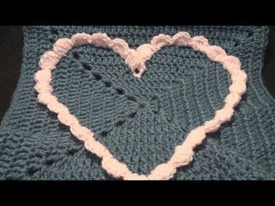 Left Hand Commemorative Large Crochet Heart Granny Square Crochet Geek
