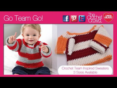 Left Hand: Go Team Go Crochet Sweater Tutorial