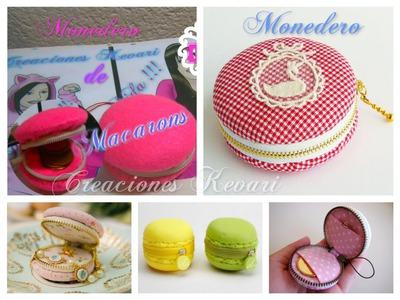 Macarons Monedero DIY.Macaron Coin Purse Tutorial