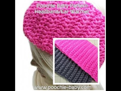 Make this Easy Crochet Headband.Ear Warmer