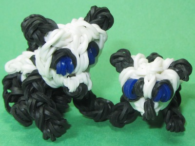 Rainbow Loom: BABY PANDA Charm (DIY Mommy Animals)