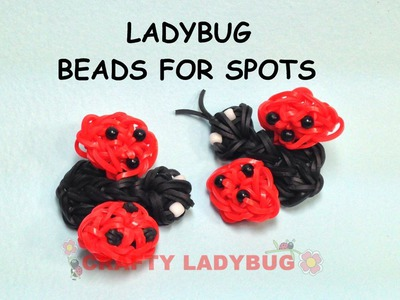 Rainbow Loom Band 3D CUTE LADYBUG WITH BEADS Advanced Charm Tutorials by Crafty Ladybug.How to DIY