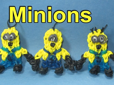 Rainbow Loom Charms: MINION Figure: How To Design. Tutorial (DIY Mommy)