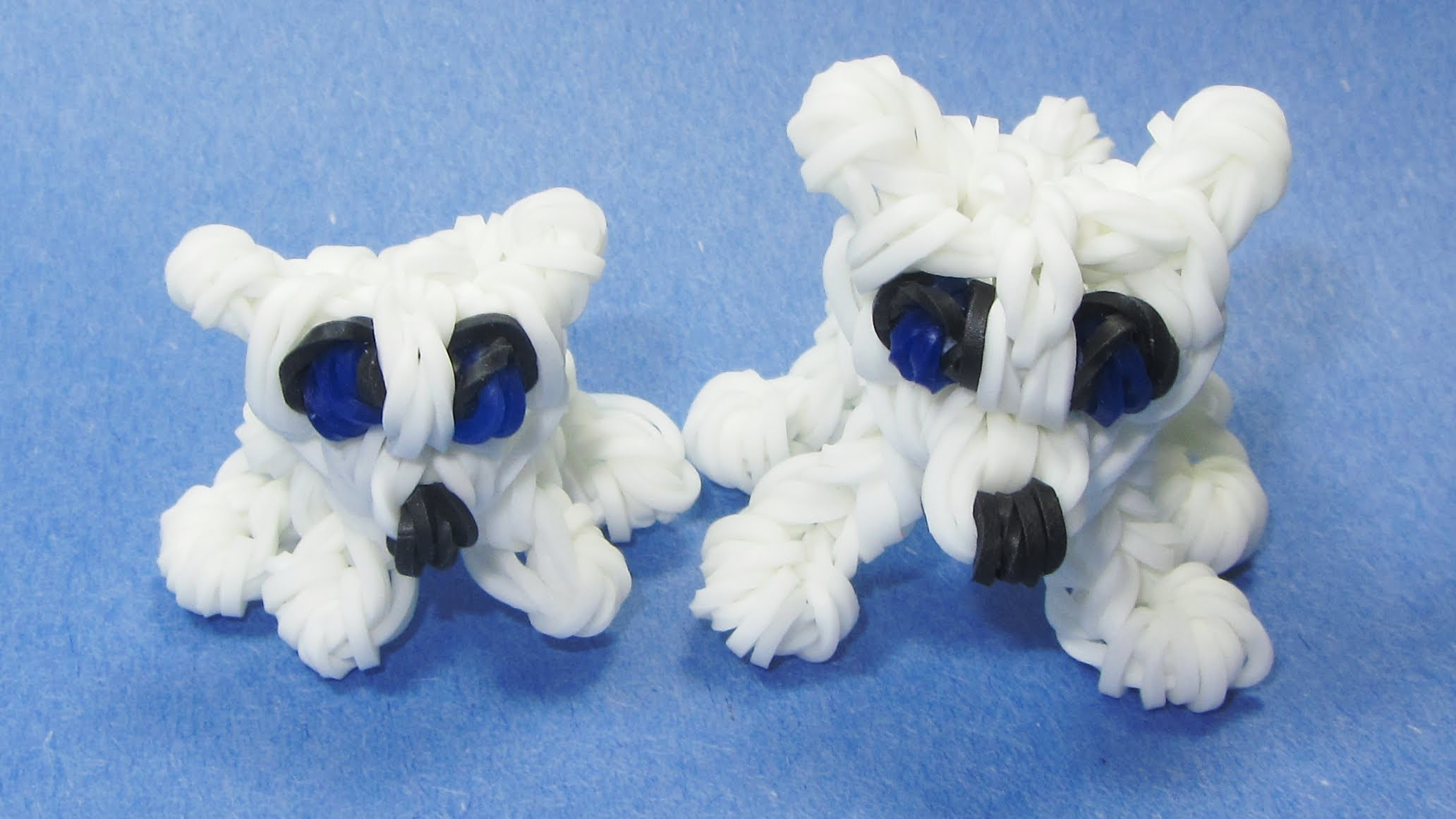 Rainbow Loom POLAR BEAR CUB Charm: (DIY Mommy Animals)