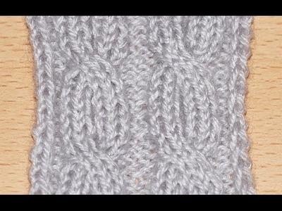 Схема вязание спицами объемной косы .  Scheme knitting bulk braids