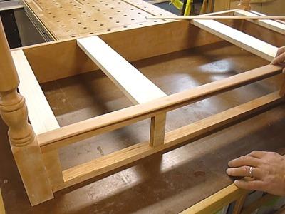 Sheraton Writing Desk - Installing Cock Beading on the Rails