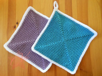 Simple and Easy Square Crochet Pot-holder - Tutorial