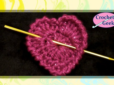 Simple Crochet Heart - Crochet Geek