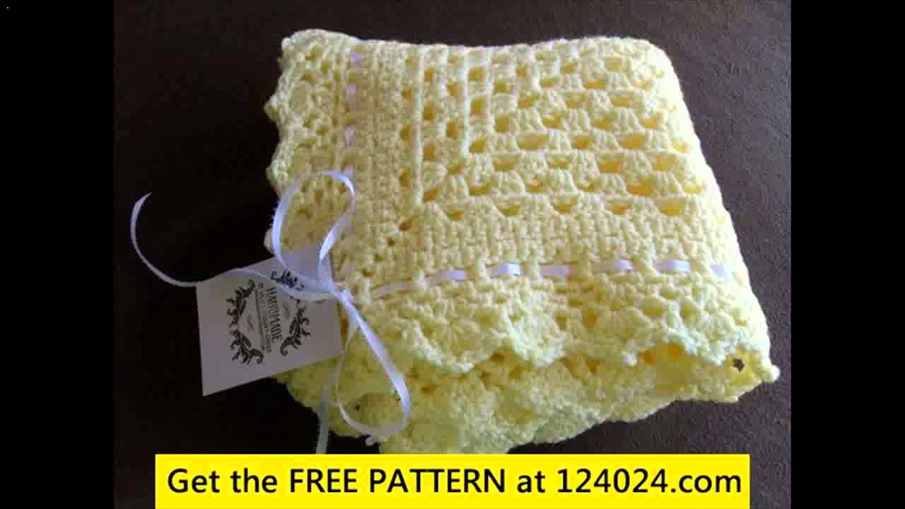 Single crochet baby blanket for beginners