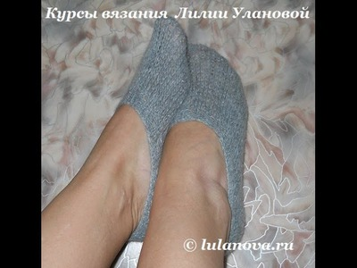 Следки Простейшие на 4 спицах - Knitting socks spokes