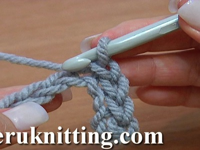 Slip Stitch Work Through Chain Stitches Crochet Basics Tutorial 10