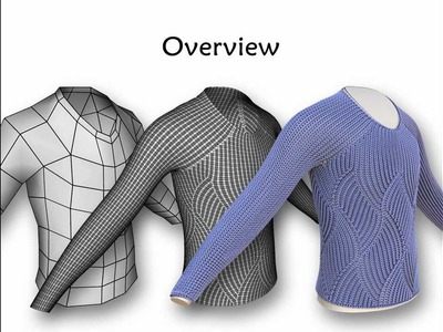 Stitch Meshes for Modeling Knitted Clothing with Yarn-level Detail - SIGGRAPH 2012