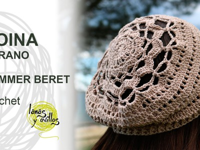 Tutorial Boina Crochet o Ganchillo Beret (with chart)