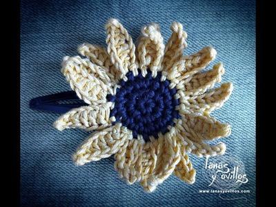 Tutorial Girasol Crochet o Ganchillo Paso a Paso en Español