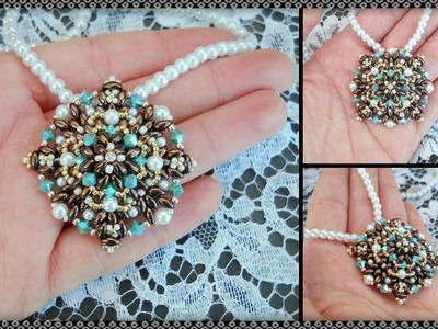 """Tutorial """" Mi chiamano Mimì """" modulo per Ciondolo Orecchini Bracciale DIY beads perline"""