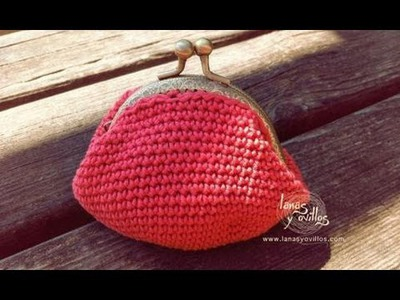 Tutorial Monedero Crochet o Ganchillo Cierre Metálico Coin Purse (english subtiltes)