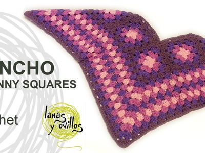 Tutorial Poncho Crochet o Ganchillo Granny Squares