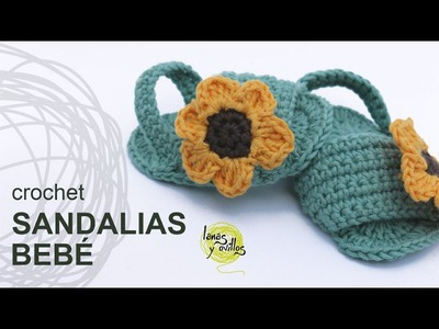 Tutorial Sandalias Bebé Crochet o Ganchillo