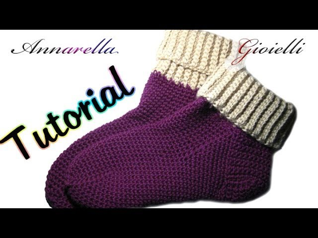 Tutorial scarpe da notte all'uncinetto | How to crochet socks