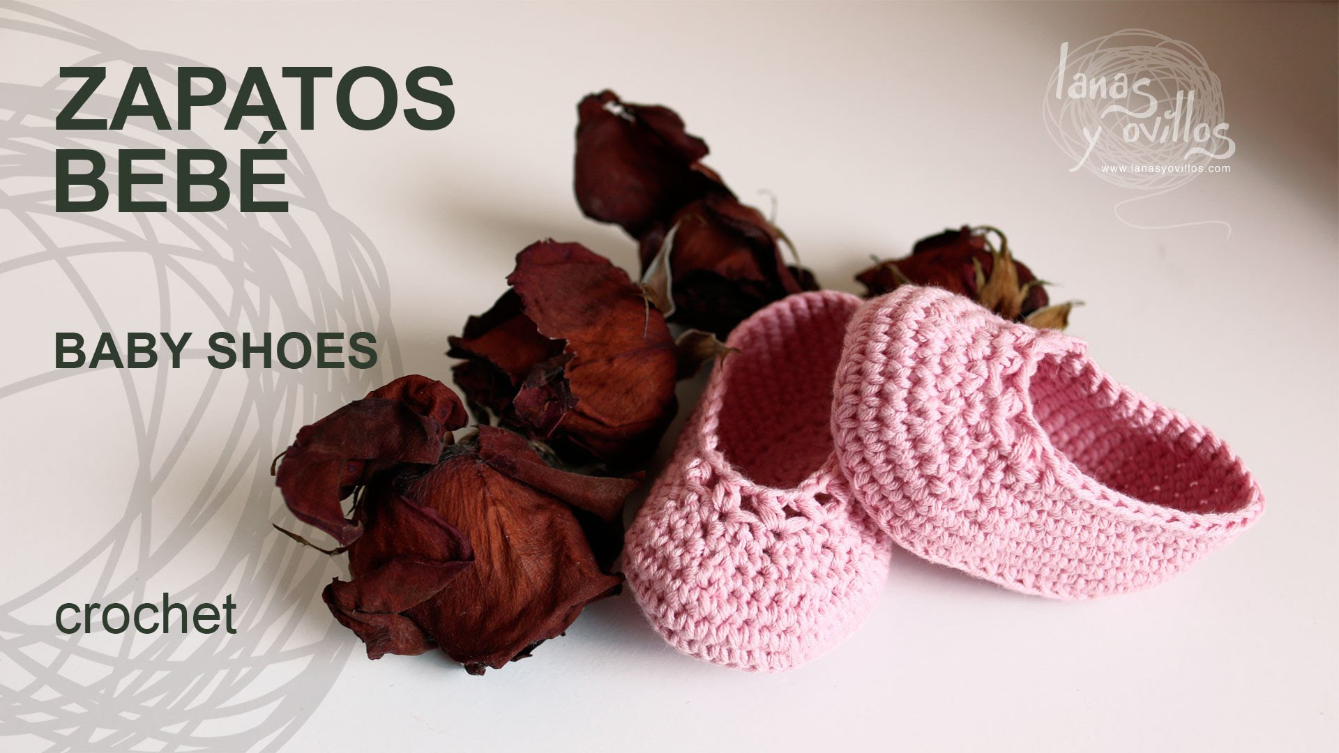 Tutorial Zapatos Bebé Crochet o Ganchillo Baby Shoes (English Subtitles)