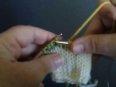 Twin Stitch Knit - TSK - short row method