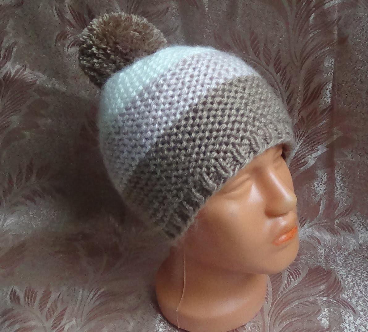 Вяжем простую шапочку спицами. hat knitting