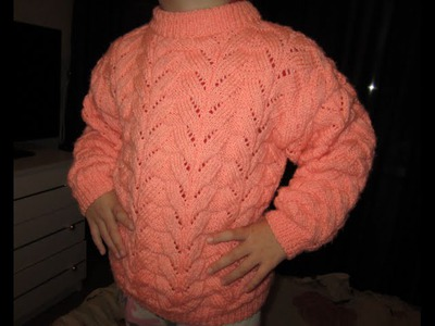 ВЯЗАНИЕ СПИЦАМИ! КРАСИВЫЙ ДЖЕМПЕР НА ДЕВОЧКУ.Вязание для начинающих. Knitting