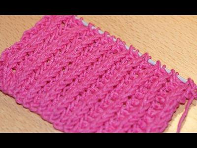 Вязание спицами. Схема вязания английской резинки.  Knitting. The scheme of knitting British gum.
