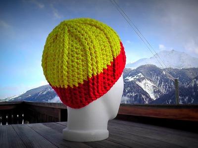 """Wooly Ribs"" hat crochet pattern for beginners - © Woolpedia"