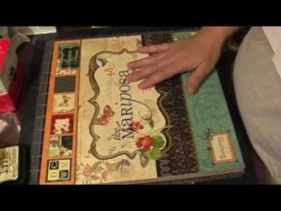 12 x 12 scrapbook layout using maricposa papers part 1