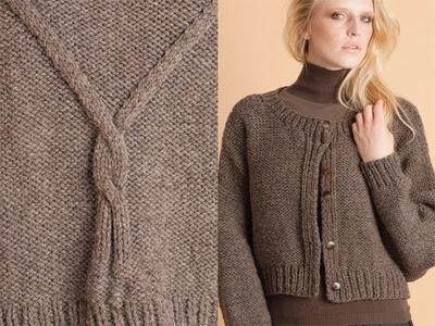 #25 Cable Back Cardigan, Vogue Knitting Winter 2010.11