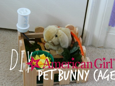 American Girl Doll Pet Bunny Cage Tutorial!