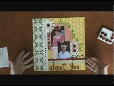 Beginner Scrapbooking Layout Tutorial - You Can't Top This!