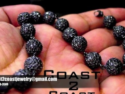 Black Diamond Bead Bracelet For Sale