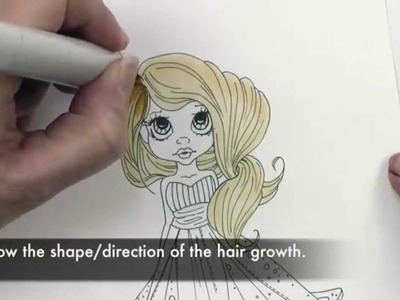 Copic in the Craft Room: Coloring Long, Wavy Hair