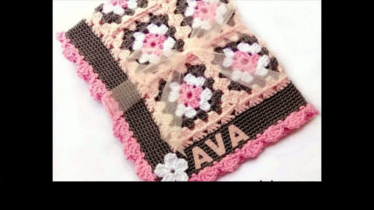 Crochet baby blanket edging