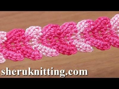 Crochet Braid Lace Ribbon Tutorial 30 Single Crochet Stitches