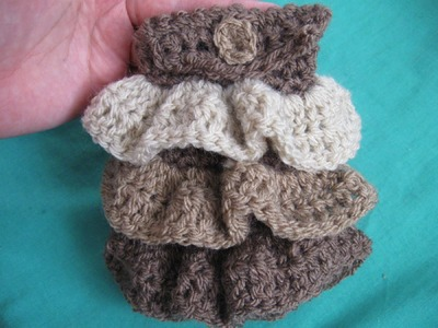 Crochet Ruffle Cellphone Holder Tutorial